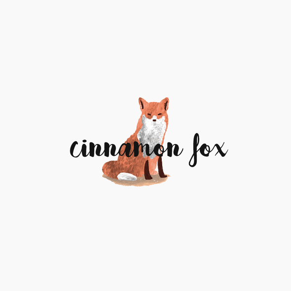 Painting design with the title 'Fox Logo Concept for Cinnamon Fox'
