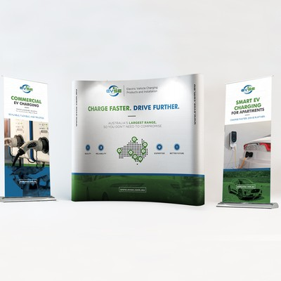 Pop-up and Roll-up Banners for an EV company