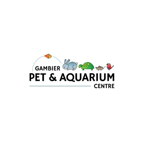 Aquarium logo with the title 'Winning logo for a pet centre'