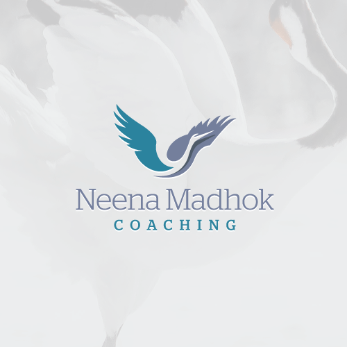 Crane design with the title 'Uplifting logo for life coach'