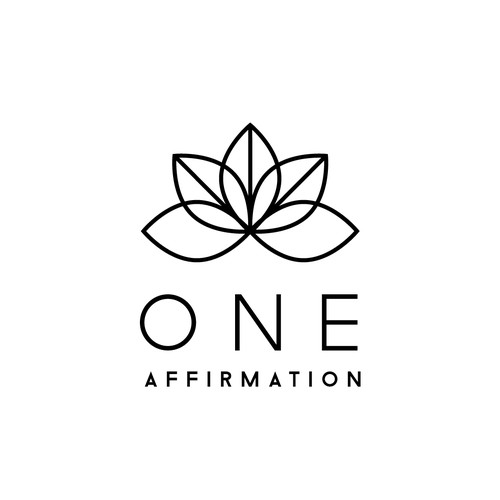 Boho chic design with the title 'Logo and website for Jewelry Line called One Affirmation'