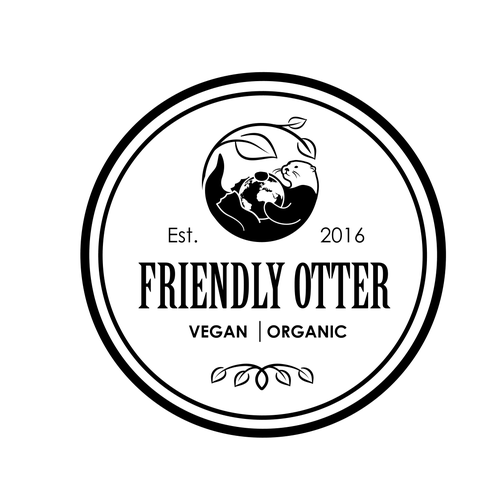Otter logo with the title 'logo for Friendly Otter'