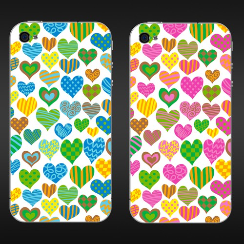Heart design with the title 'New merchandise design (smartphone case) wanted for HipArt '