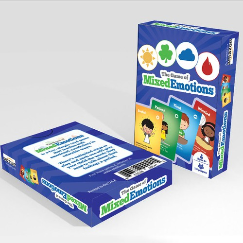 Children's packaging with the title 'Card Deck Packaging Design '