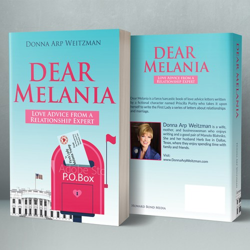 "Relationship design with the title 'Design a fun book cover for letters of ""love advice"" to Melania Trump'"
