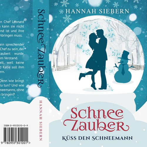 Love design with the title ' a bookcover for a winter Lovestory'