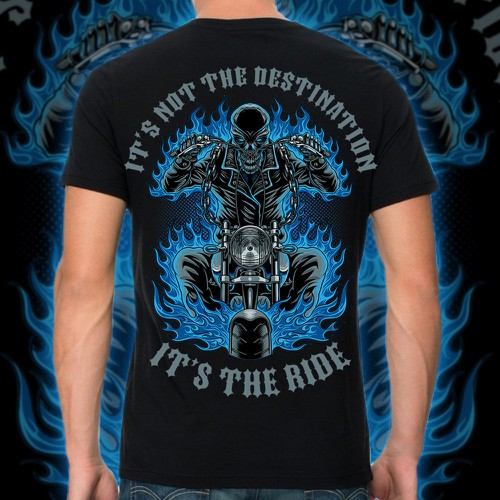 Copper design with the title 'it's the ride'
