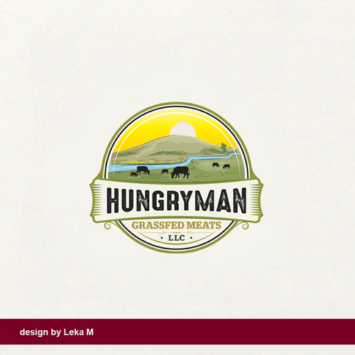 Grass logo with the title 'HUNGRYMAN'