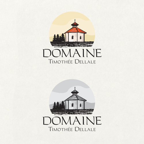 Vineyard logo with the title 'Domaine'