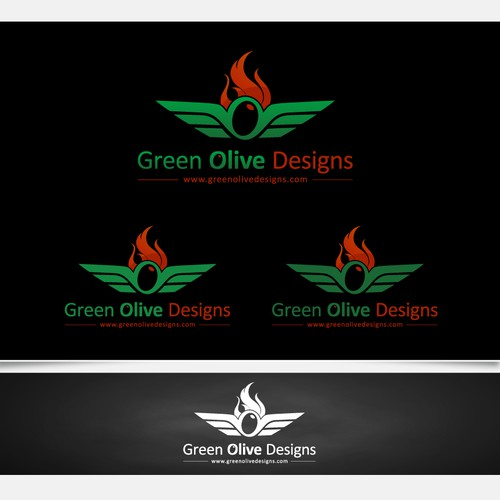 Olive design with the title 'Green Olive Designs'