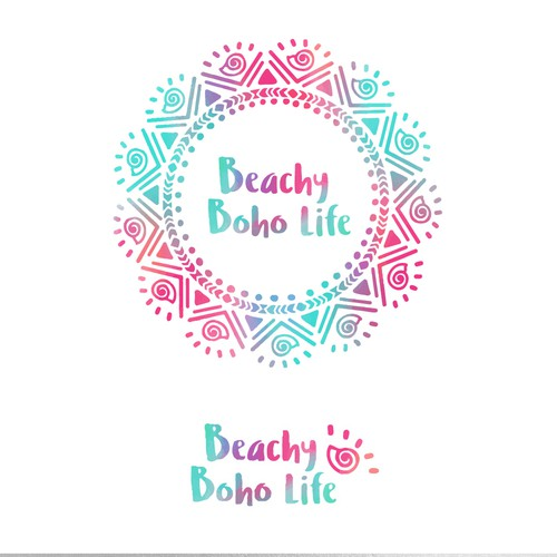 Whimsical brand with the title 'Hand drawn logo for beachy jewellery company'
