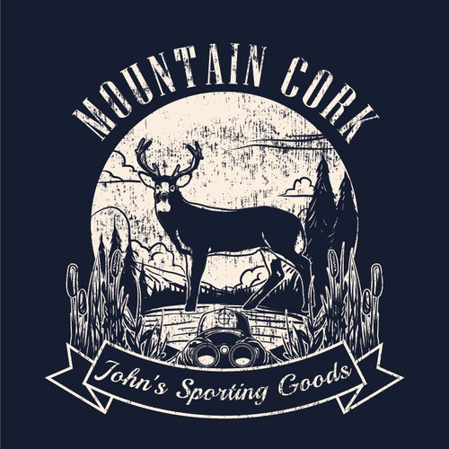 Hunter design with the title 'Outdoor themed t-shirt designs for Sporting Goods Stores'
