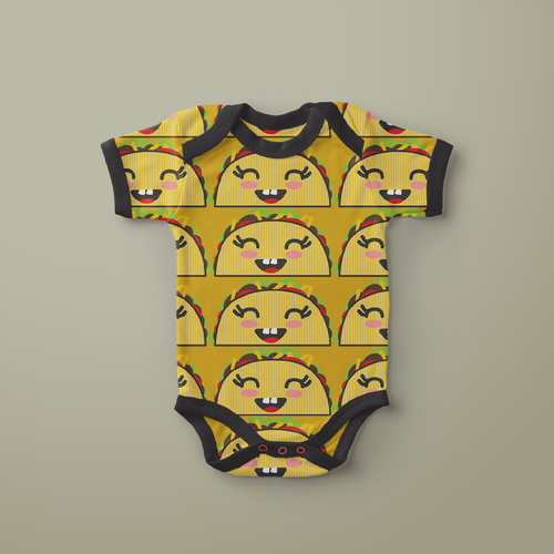 Baby artwork with the title 'SUPER FUN pattern/illustration!!'
