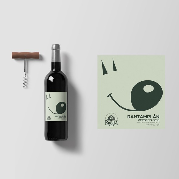 Spanish label with the title 'Spanish wine label'