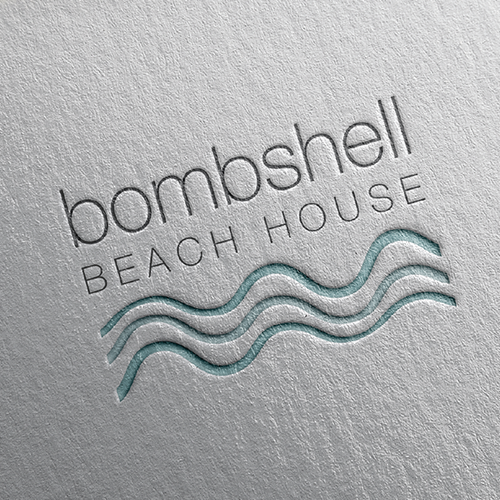 Turquoise logo with the title 'Bombshell Contest'