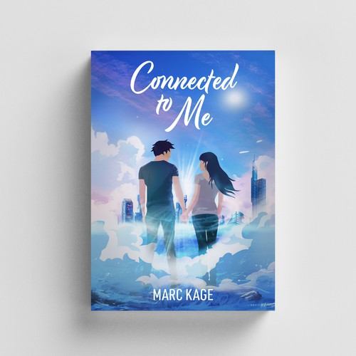 Romantic comedy book cover with the title 'Connected to me'