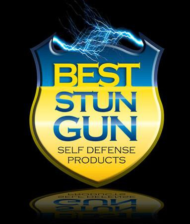 Self-defense logo with the title 'Logo for Ecommerce Site Sell Stun Gun'