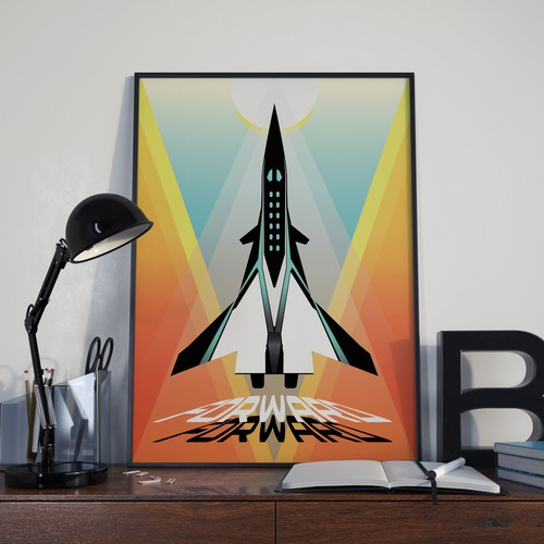 Rocket artwork with the title 'Forward !'