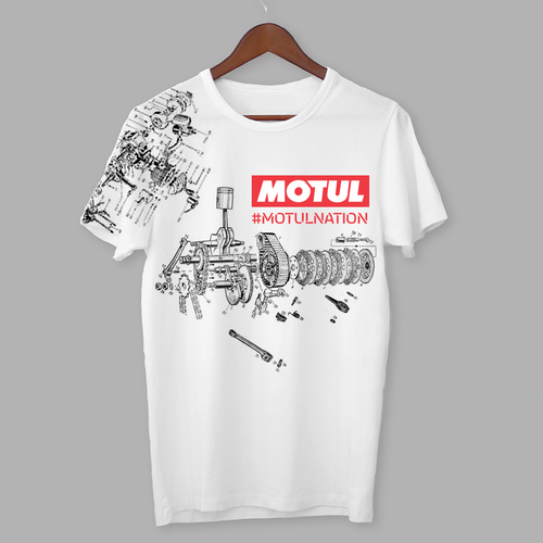 Motor t-shirt with the title 'Motul T-shirts'