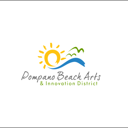 District logo with the title 'pompano beach art'