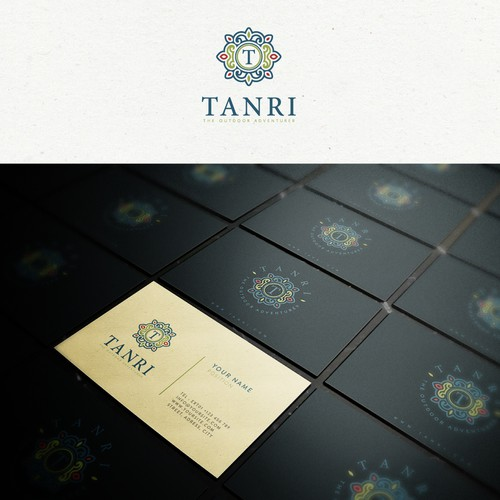 Spiritual logo with the title 'Tanri logo Design'