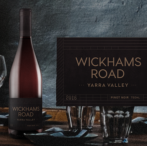 Wine design with the title 'Wickhams Road'