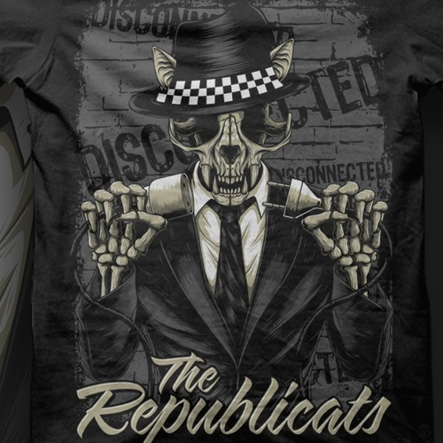 Skull design with the title 'Tshirt for a  rock band '