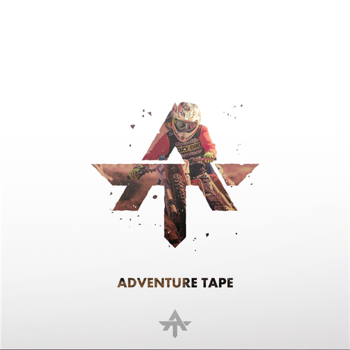4x4 logo with the title 'Bold and Strong concept logo for Adventure Tape '