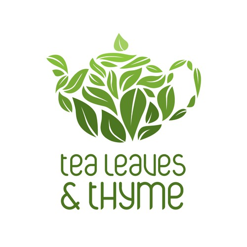 Teapot logo with the title 'Logo Concept for Tearoom'