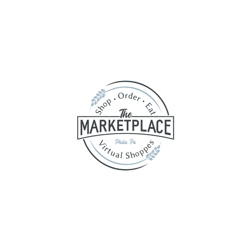 Farmer's market design with the title 'Logo for a group of online shops'