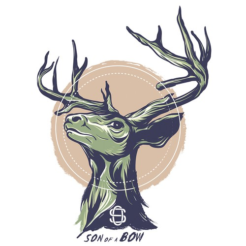 Deer t-shirt with the title 'Deer Illustration for t shirt'