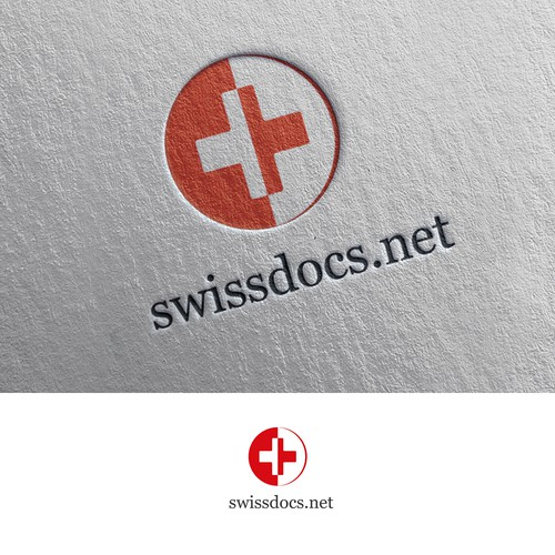 Swiss logo with the title 'Swiss doctors logo design'