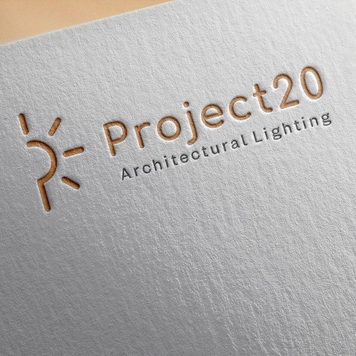 Lighting brand with the title 'lighting logo'