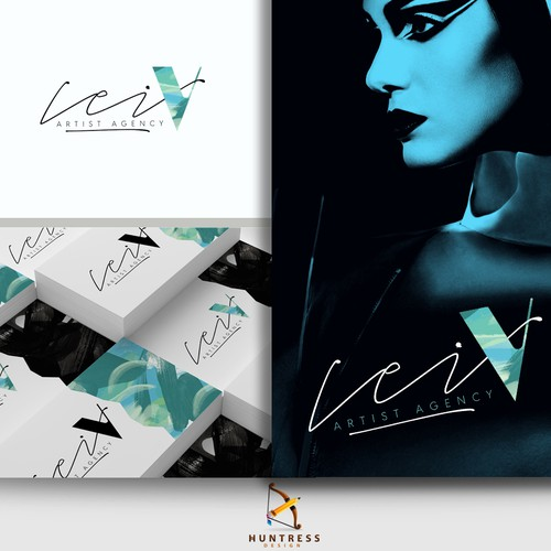 Salon design with the title 'Artistic logo design for Lei V Artist Agency'