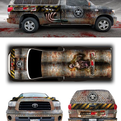 Design a Zombie Escape truck wrap
