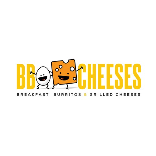 Breakfast logo with the title 'Fun cartoon-y logo for a fun restaurant'