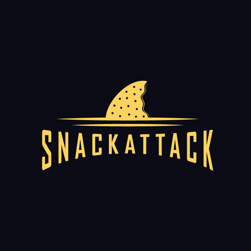 Cookie logo with the title 'Create a delicious and clean logo for Snackattack, your logo will be vieuwed by 3000 people daily!!'