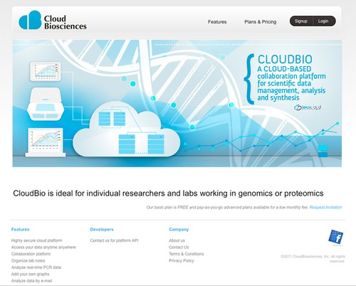 Computer design with the title 'Header image design for LexaCloud site'