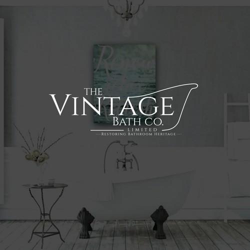 Bath logo with the title 'The Vintage Bath Company'