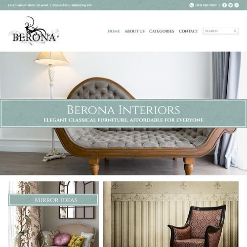 Classical design with the title 'Berona Interiors'
