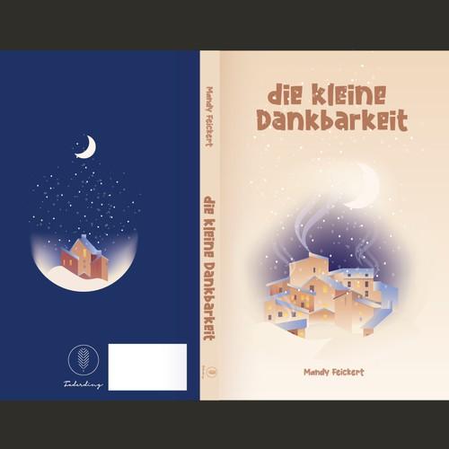 Illustration book cover with the title 'Die kleine Dankbarkeit The little gratitude book'