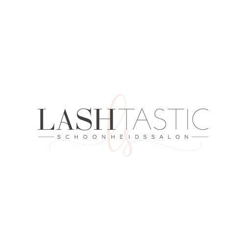Beauty logo with the title 'LASHTASTIC beauty salon'