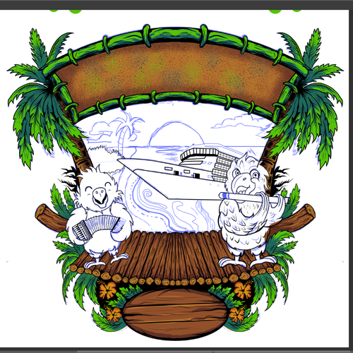 Caribbean design with the title 'artwork for cruise'