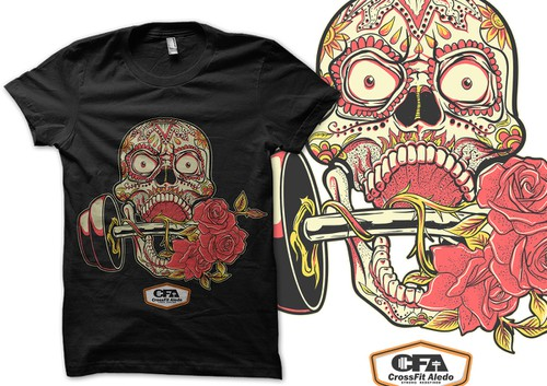 CrossFit t-shirt with the title 'Sugar Skull Fitness Competition Shirt'