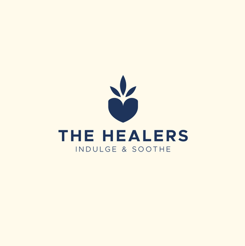 Blue and pink logo with the title 'The Healers'