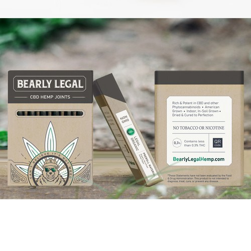 Bright packaging with the title 'Bright and premium package for pre-roll'