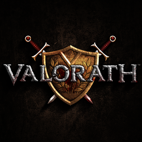 Shield design with the title 'Valorath'