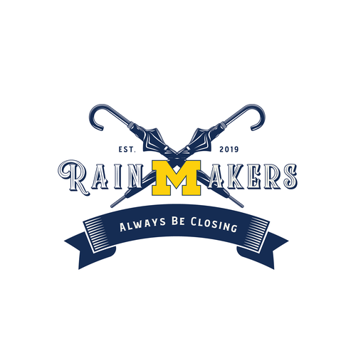 Rain logo with the title 'Logo for a Michigan University Business Club'
