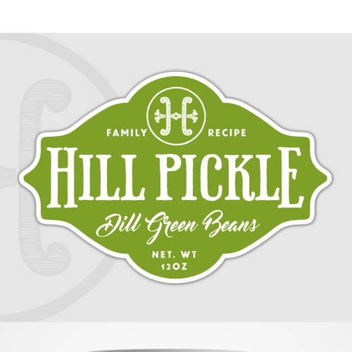 Recipe logo with the title 'Logo for pickle company'