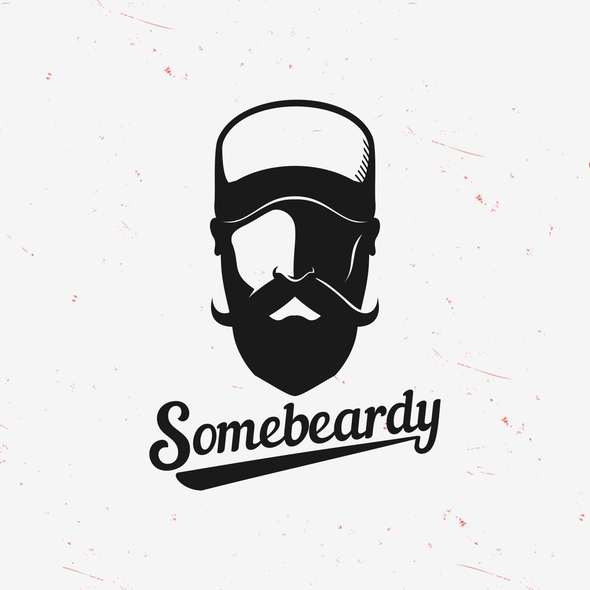 Baseball design with the title 'Simple and Clean Beardy Logo'